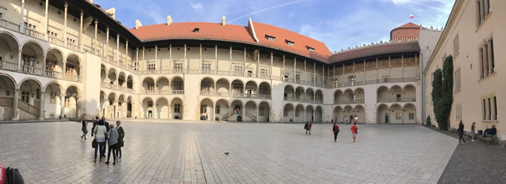 Cytadela Twierdzy in its Italian Renaissance style with a large courtyard and arcaded galleries