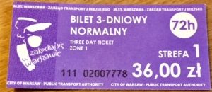 3 day travel ticket