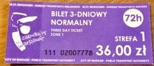 3 day travel ticket