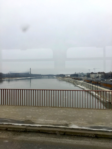The river Vistula divides Warsaw