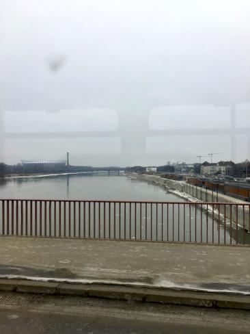 The river Vistula divides Warsaw