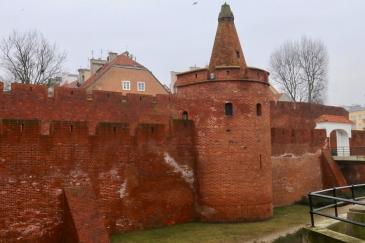 Fortyfikacje staromiejskie at the end of ul. Nowomiejska