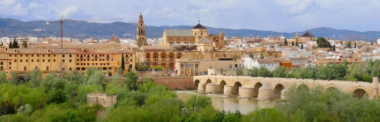 View of Córdoba, Spain with the Mezquita-Catedral in the very center