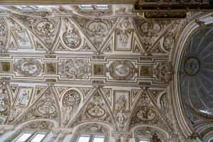 stuccoed ceiling