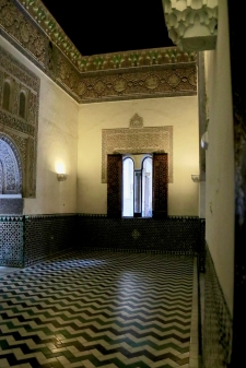 Reception hall in the Royal Acázar