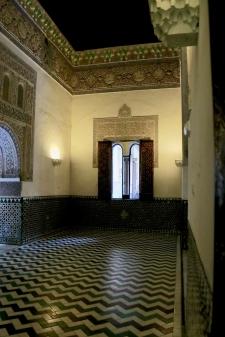 Reception hall in the Royal Acázar