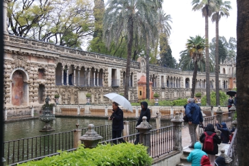 The gardens in the Real Alcázar
