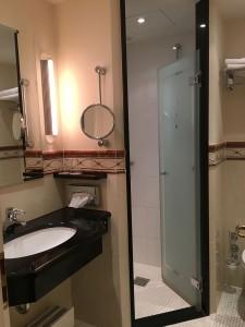Kleines aber komfortables Bad – leider ohne Fenster!