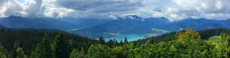 Blick von der Alm Neureuth auf den Tegernsee