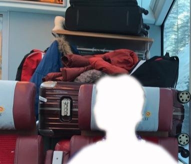 Leider war der Staubereich für das Gepäck viel zu klein.