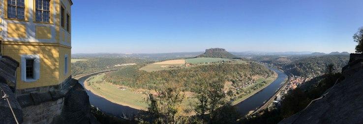 Blick von der Festung Königstein auf die Sächsisch-Böhmische Schweiz