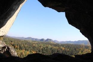 Blick vom Kuhstall über die Sächsische Schweiz