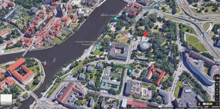 Google Maps Screenshot der Umgebung um das Panorama-Gebäude herum ©Google