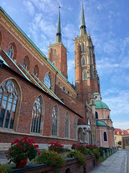 Breslauer Dom mit der Aussichtsplattform auf dem rechten Turm