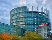 Das Gebäude des Europaparlaments in Straßburg