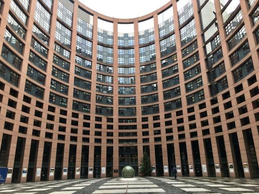 Innenhof des Europaparlaments